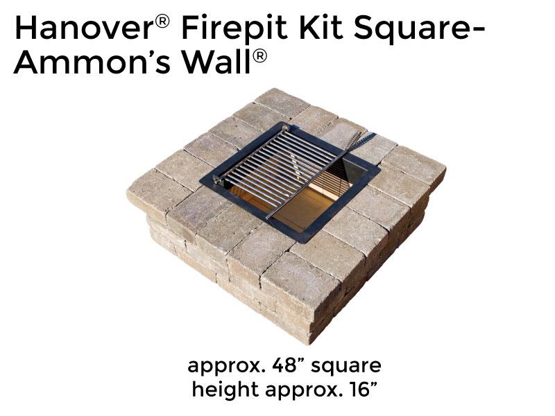 Ammon's Wall® Firepit Kit Square - Firepit Kits