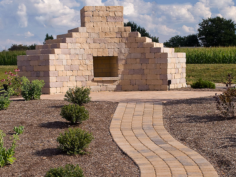 Chapel Stone® Garden Walling, Fireplace