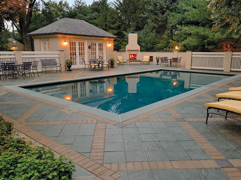 Slateface® Pavers, Traditional® Prest® Brick 4x8